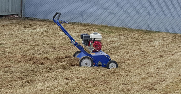 Power Raking and Lawn Dethatching Services in Winnipeg Manitoba.
